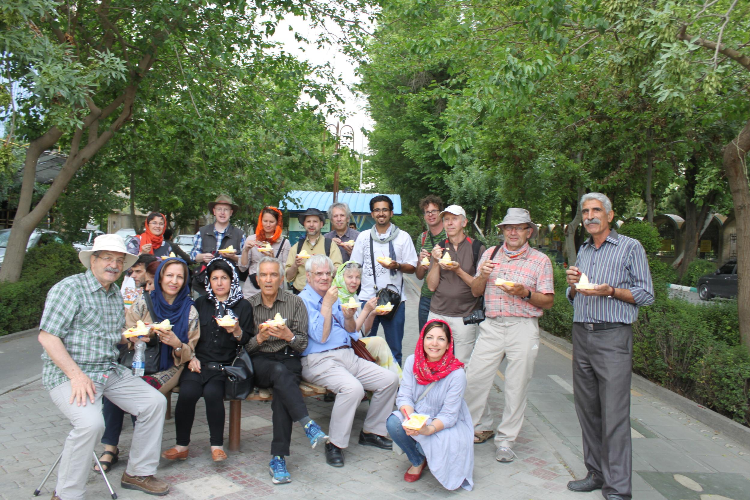 Enjoying Faloudeh and Ice cream in Isfahan