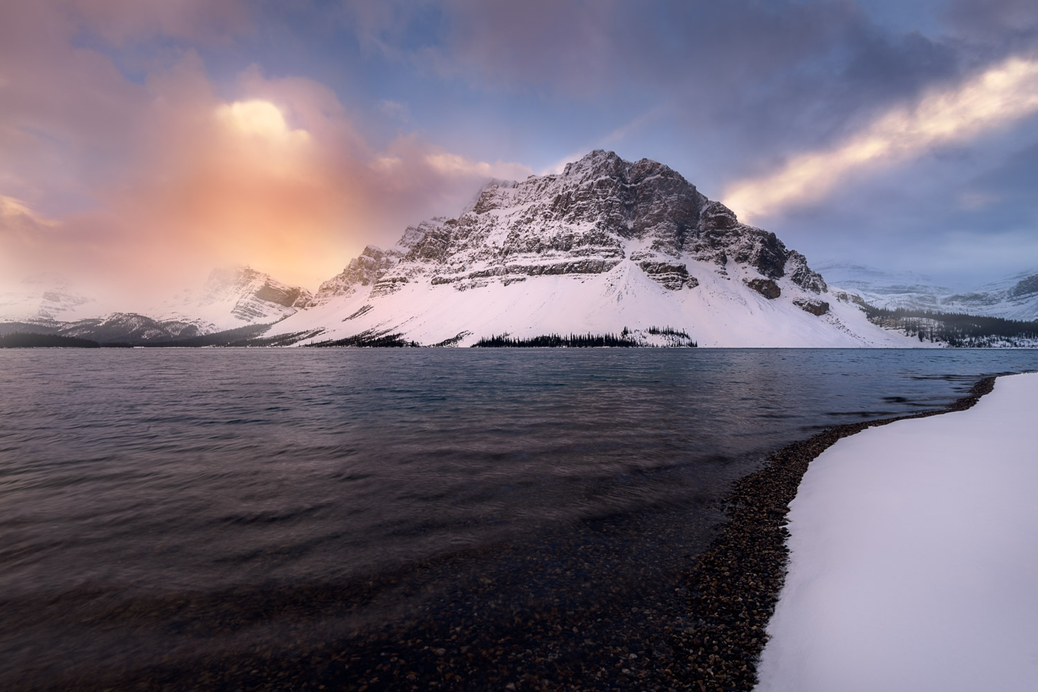 Bow Lake, Banff National Park, Icefields Parkway, Alberta, Canada