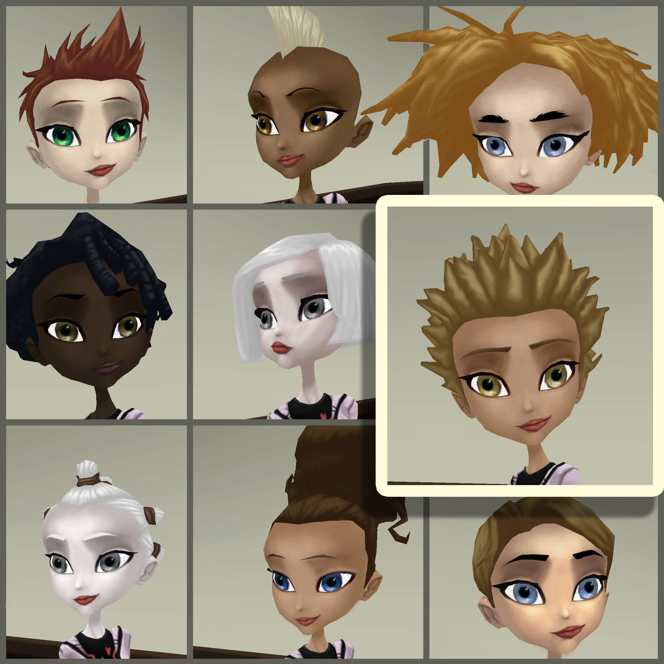 Hairstyles galore!