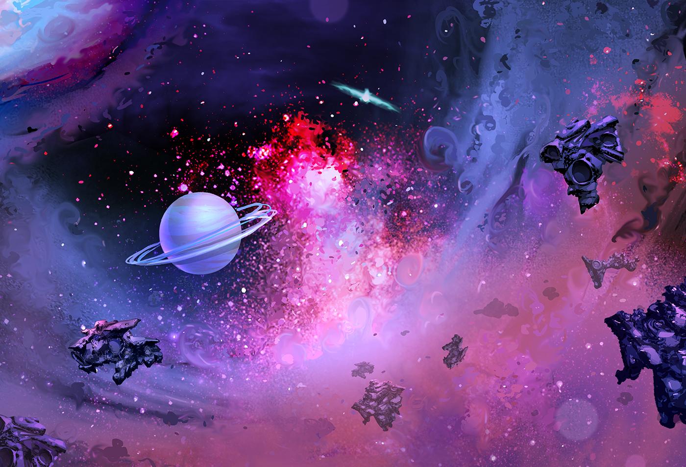 Space BG Concept