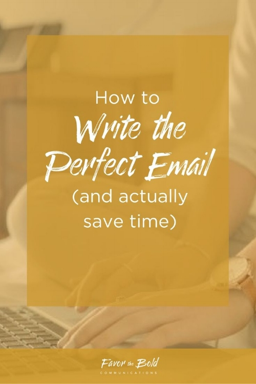 How to write the perfect email and actually save time