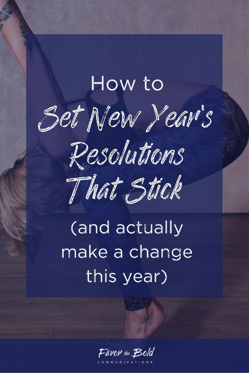 How to set and stick to New Year's resolutions