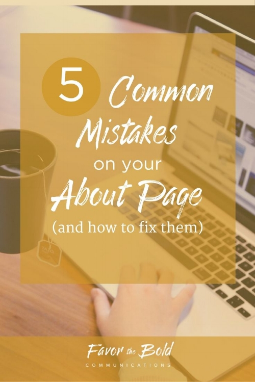 5 common mistakes on your about page and how to fix them
