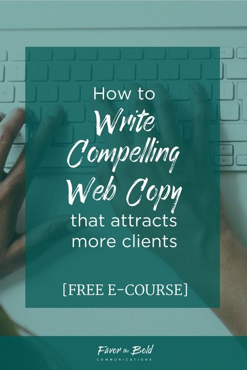 How to write web copy that attracts your ideal audience and sells what you do