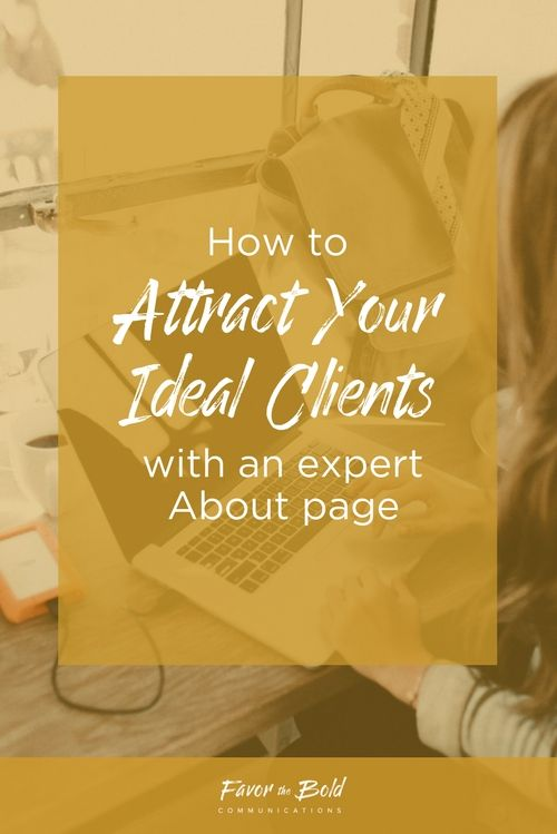 How to attract your ideal clients with an expert About page