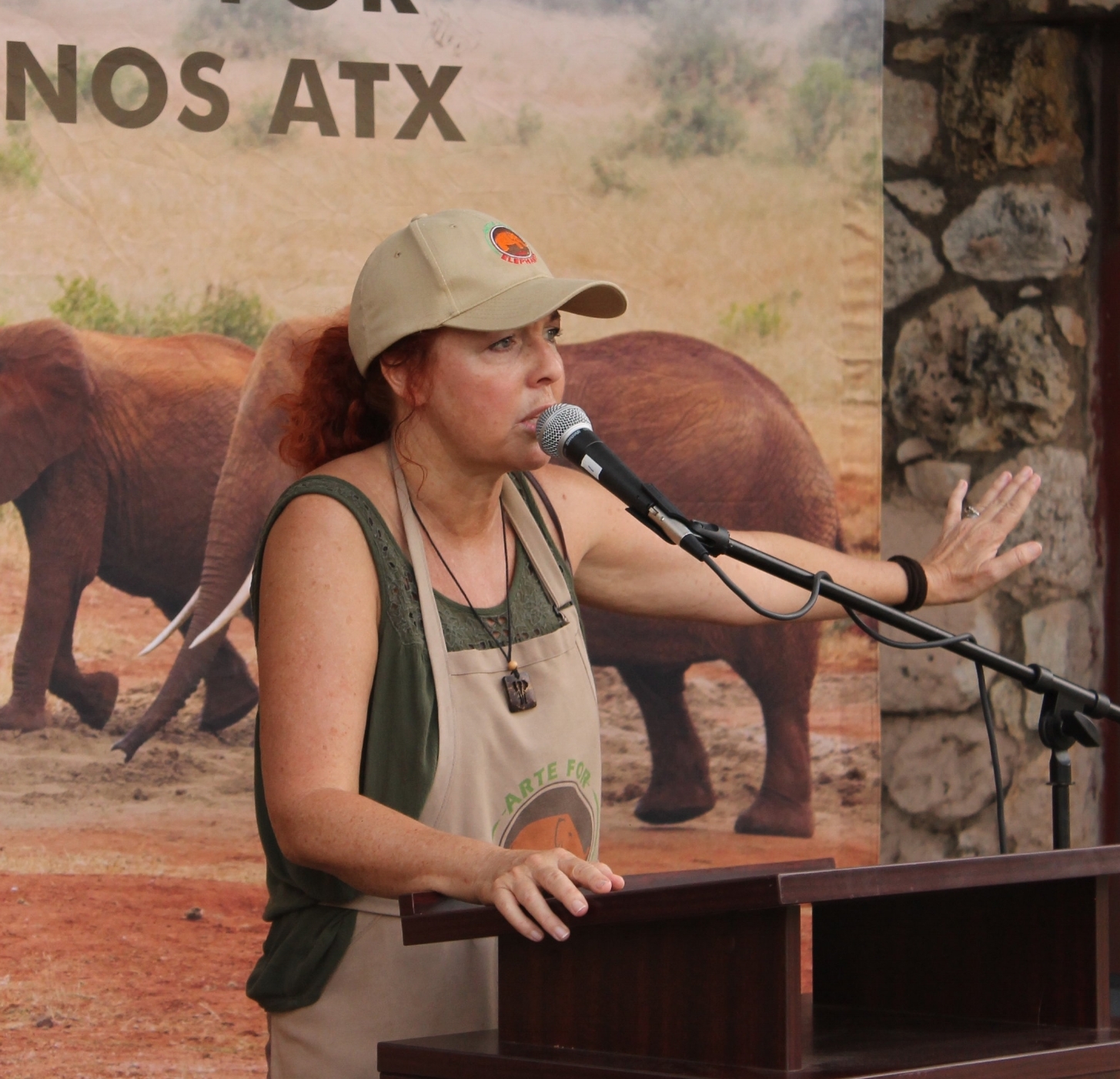 Thyra Rutter raises funds for Elephant charities in Africa and India and helps raise awareness about the crisis wherever she goes.