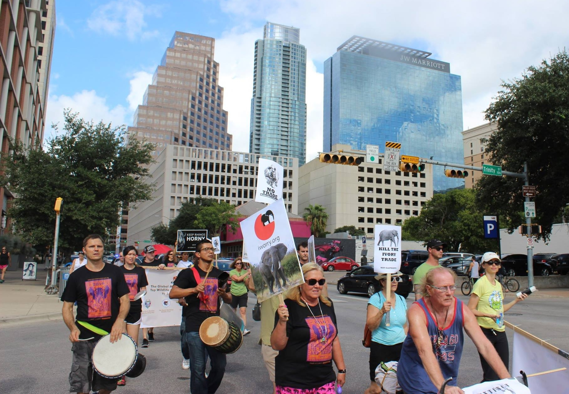 The Global March ATX crowd was from all walks of life and passionate about saving WILDLIFE for future generations.