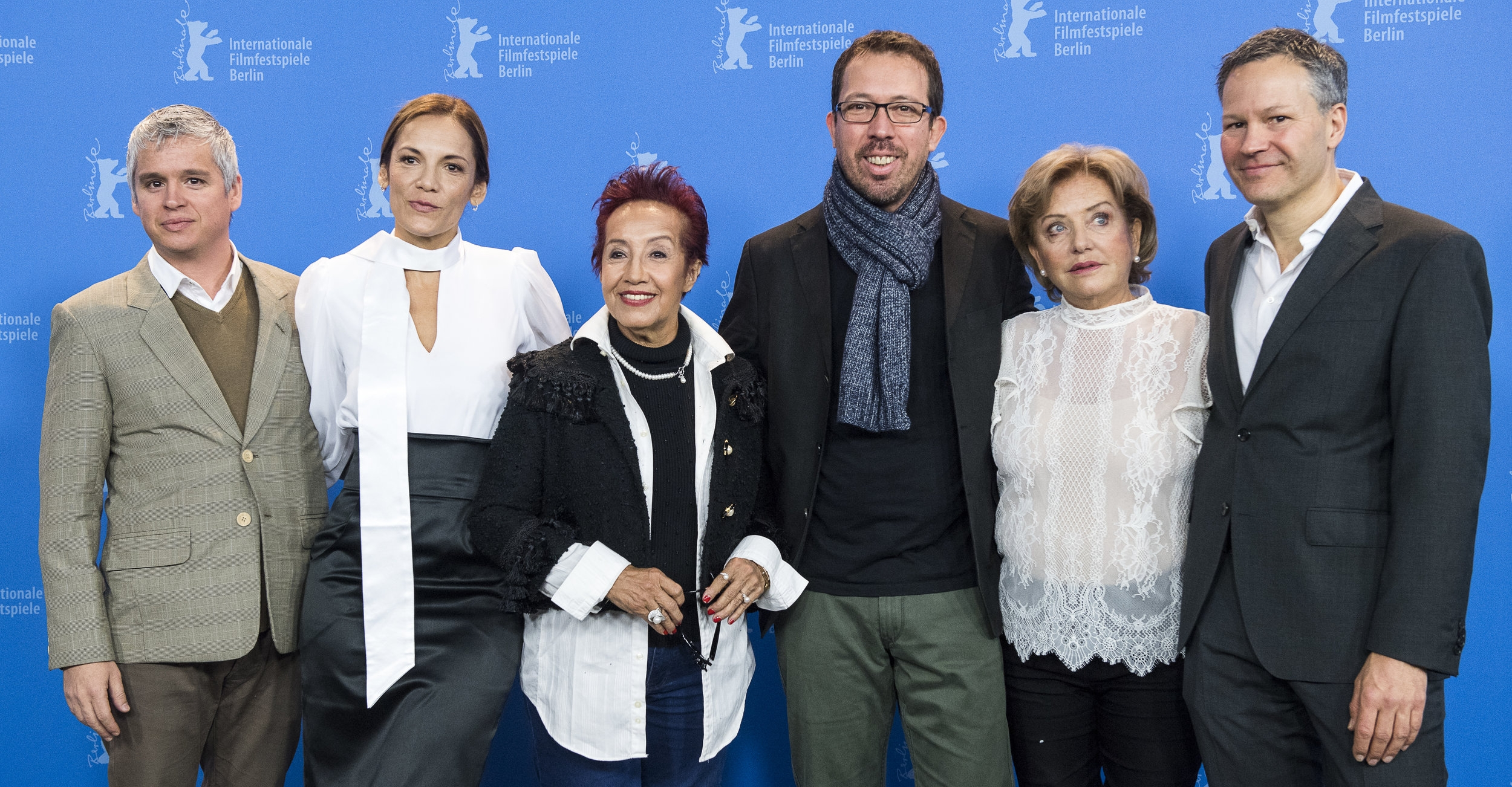 BERLINALE 2018 - Main cast with director and producers