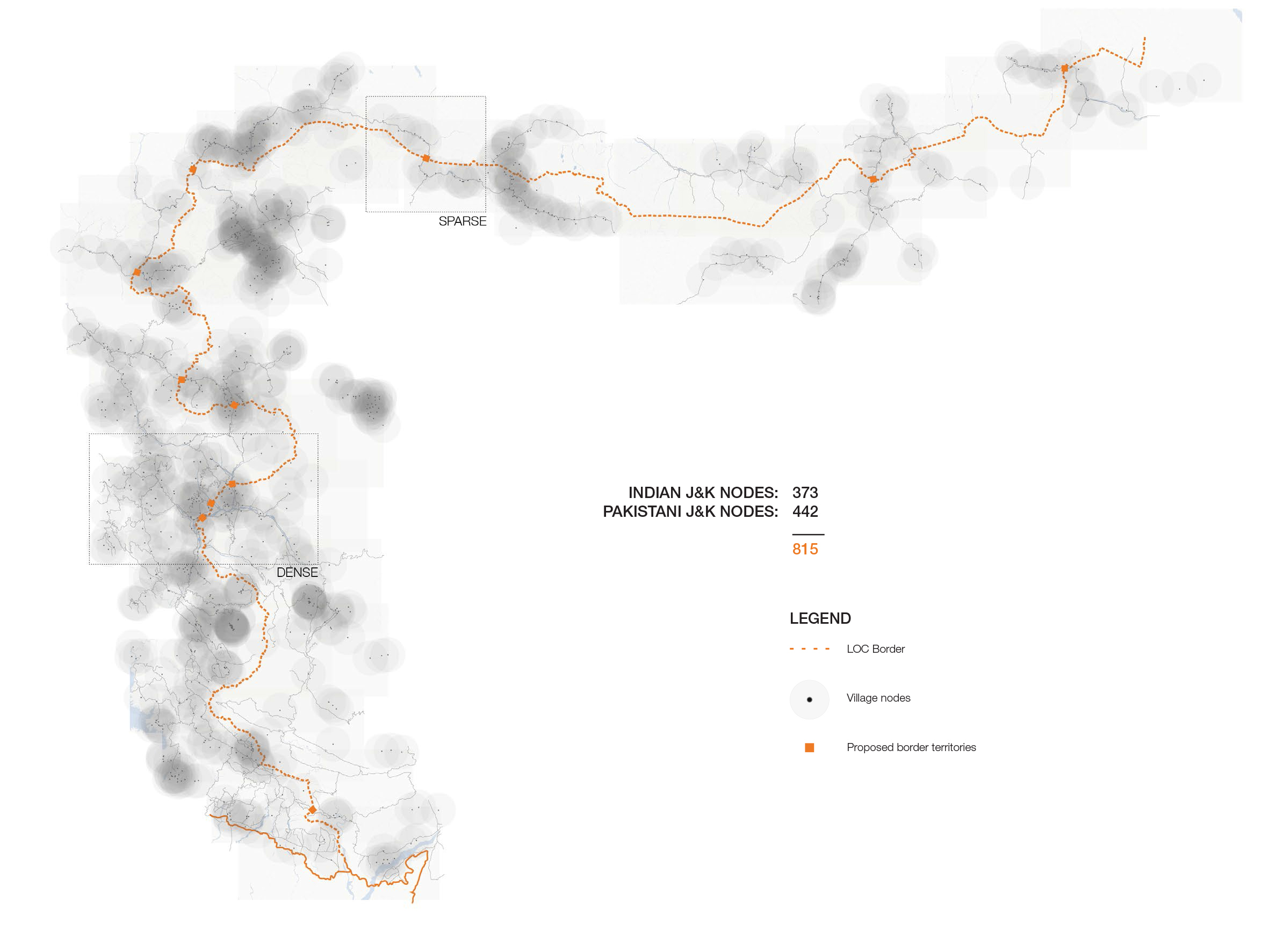 Figure 3. Proposed border typology mapping rural nodes that will build the new border network.