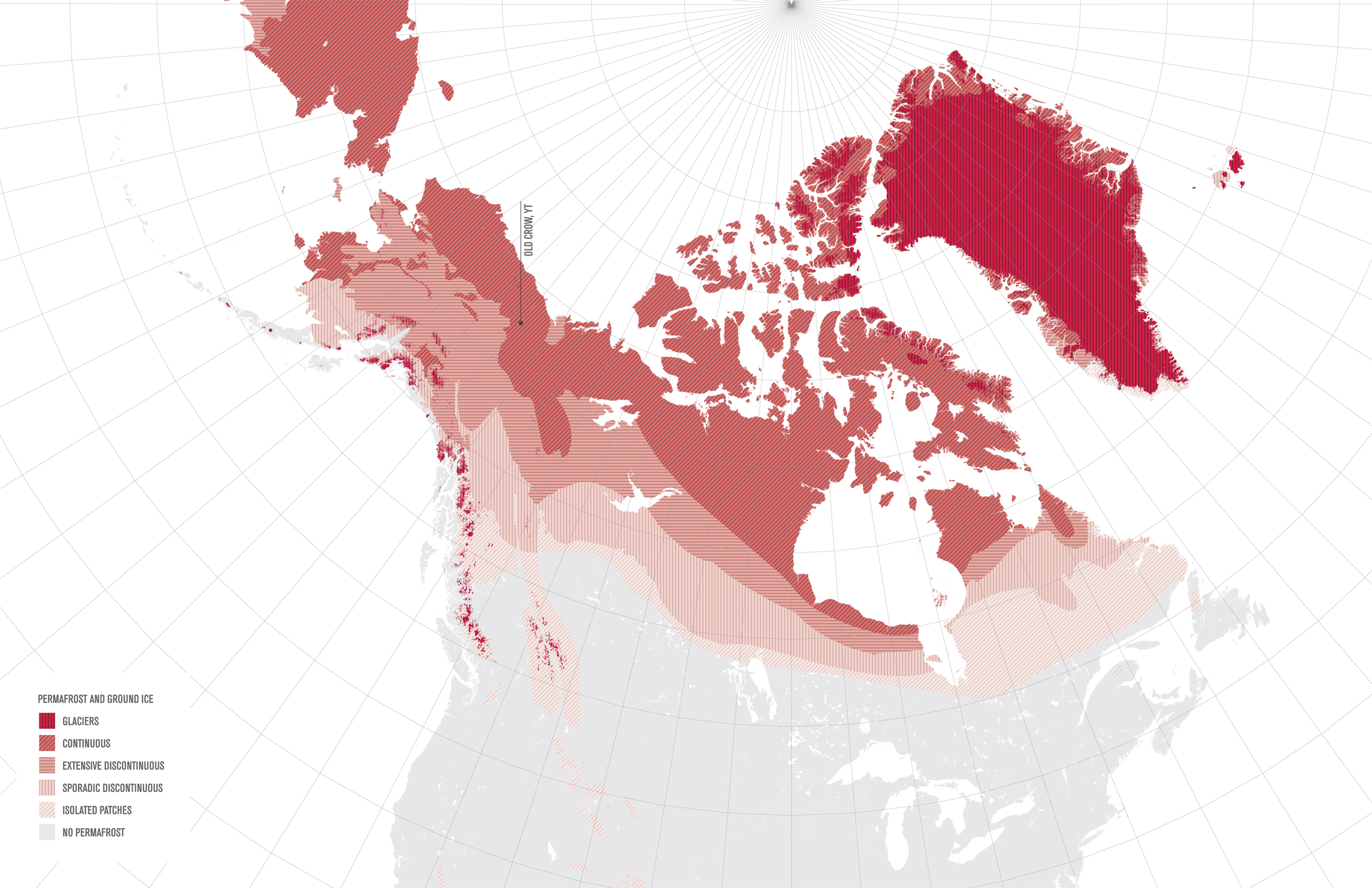 Image 1: Permafrost map of Canada (Data courtesy of National Snow and Ice Data Centre)