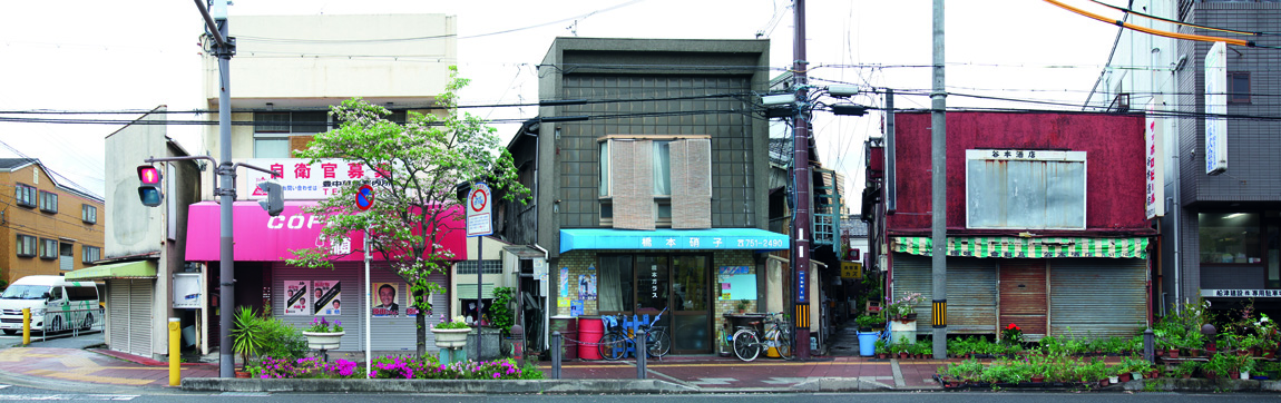 """Image 1/ Remnants of """"Signboard Architecture,"""" Ikeda, Osaka Prefecture, Photograph by CC Williams"""