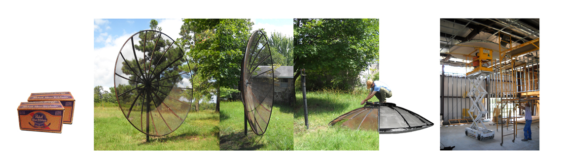Image 8A: Satellite dish, acquired for beer, Photograph by Marlon Blackwell Architects