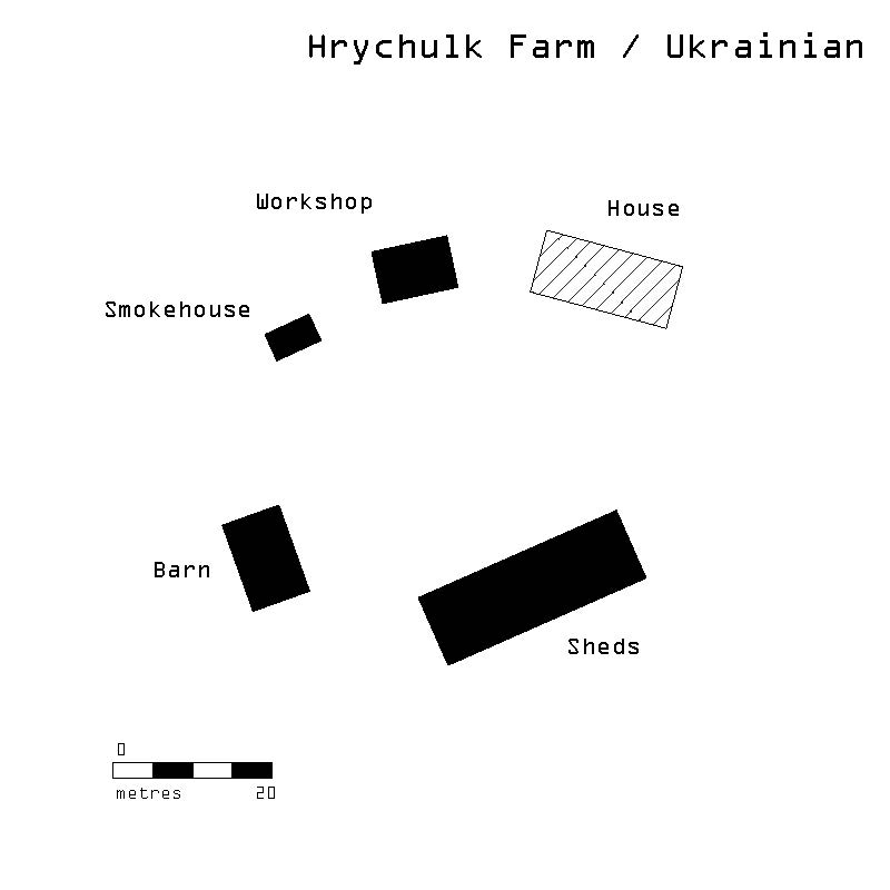 "Image 4: Farmstead layout comparisons. Image by Jason Surkan. Adapted from David Burley and Gayel A. Horsfall, ""Vernacular Houses and Farmsteads of the Canadian Métis,"" Journal of Cultural Geography 10 (1) (1989): 28."