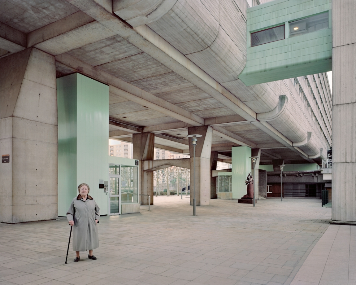 Josette, 90, Vision 80, Esplanade de La Défense, 2013.  Photograph by Laurent Kronental.