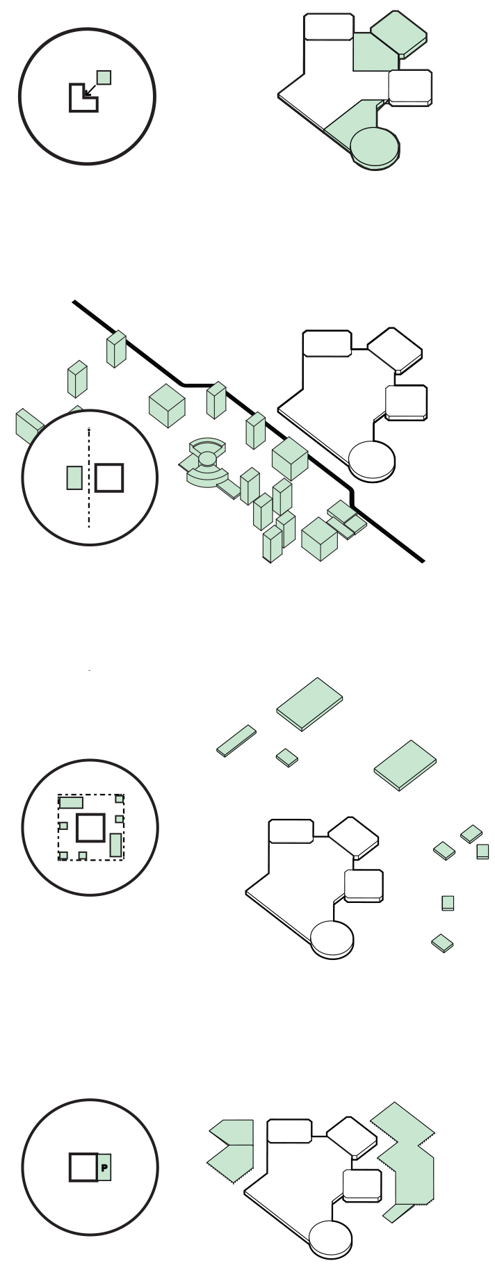 Image 12 / Mall Growth—Scarborough Agglomeration Step-by-step, 2015. Illustration by Emma Dunn, Michael Piper, and Zoe Renaud