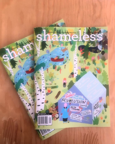 The current issue of  Shameless  is The Do It Yourself, Do It Together Revolution Issue. Photograph by Wesley Fok