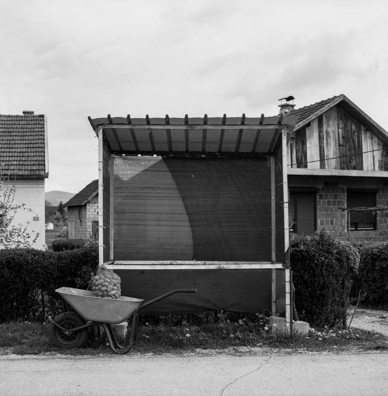 A still of ongoing life in a Bosnian town.