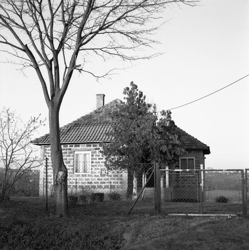 Façade of a house in a Serbian village close to the city of Niš.