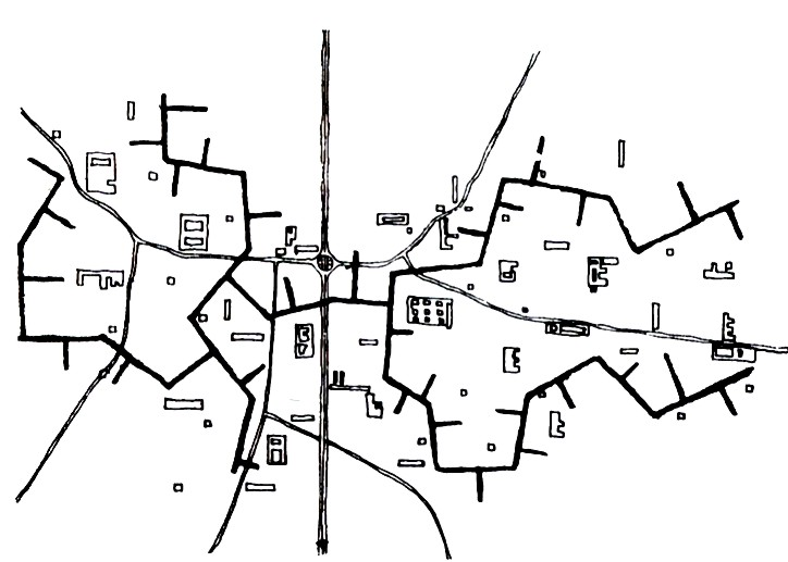 Image 7 / Drawing of Cluster City, 1952. Drawing by Alison and Peter Smithson.