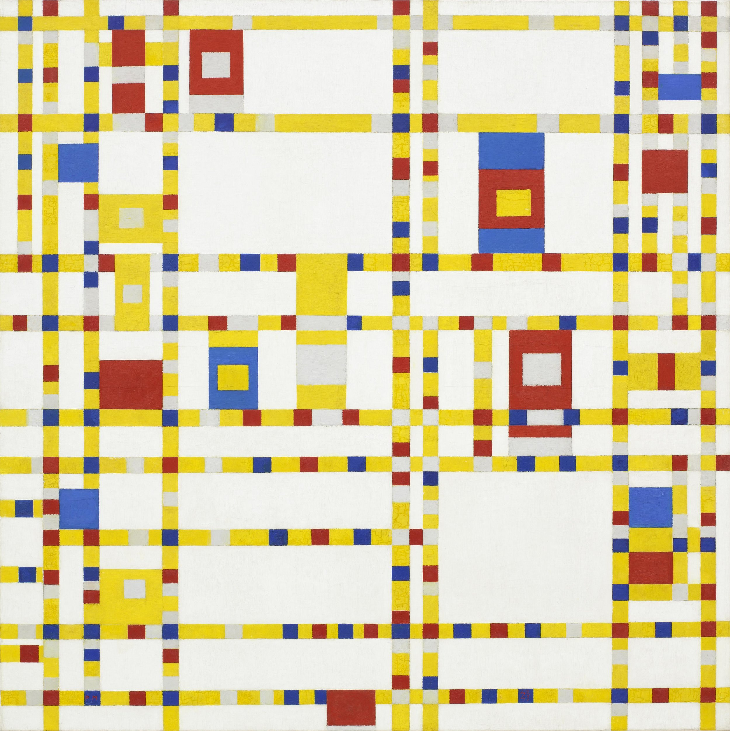 Piet Mondrian, Broadway Boogie Woogie, 1943. Courtesy Wikipedia Commons
