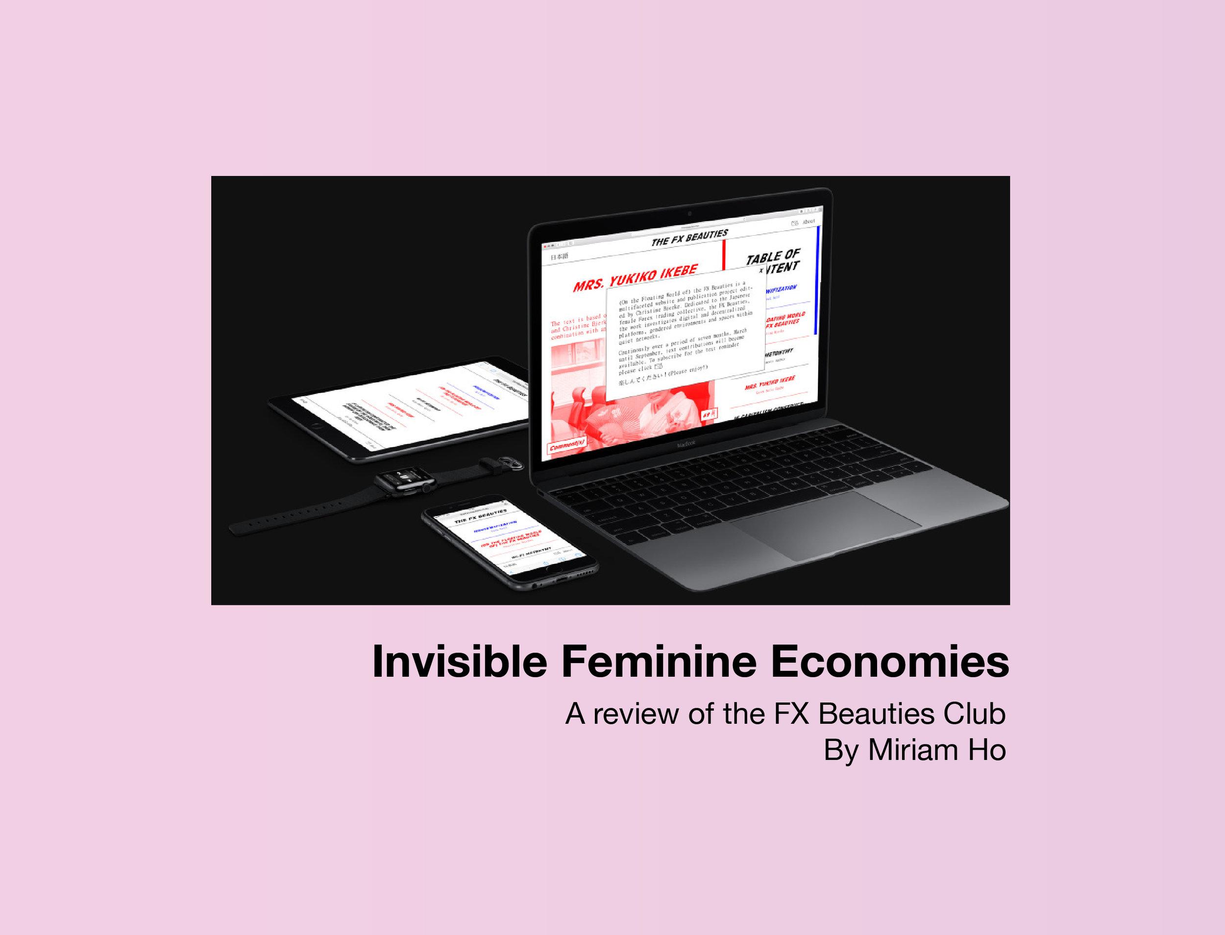 Invisible Feminine Economies