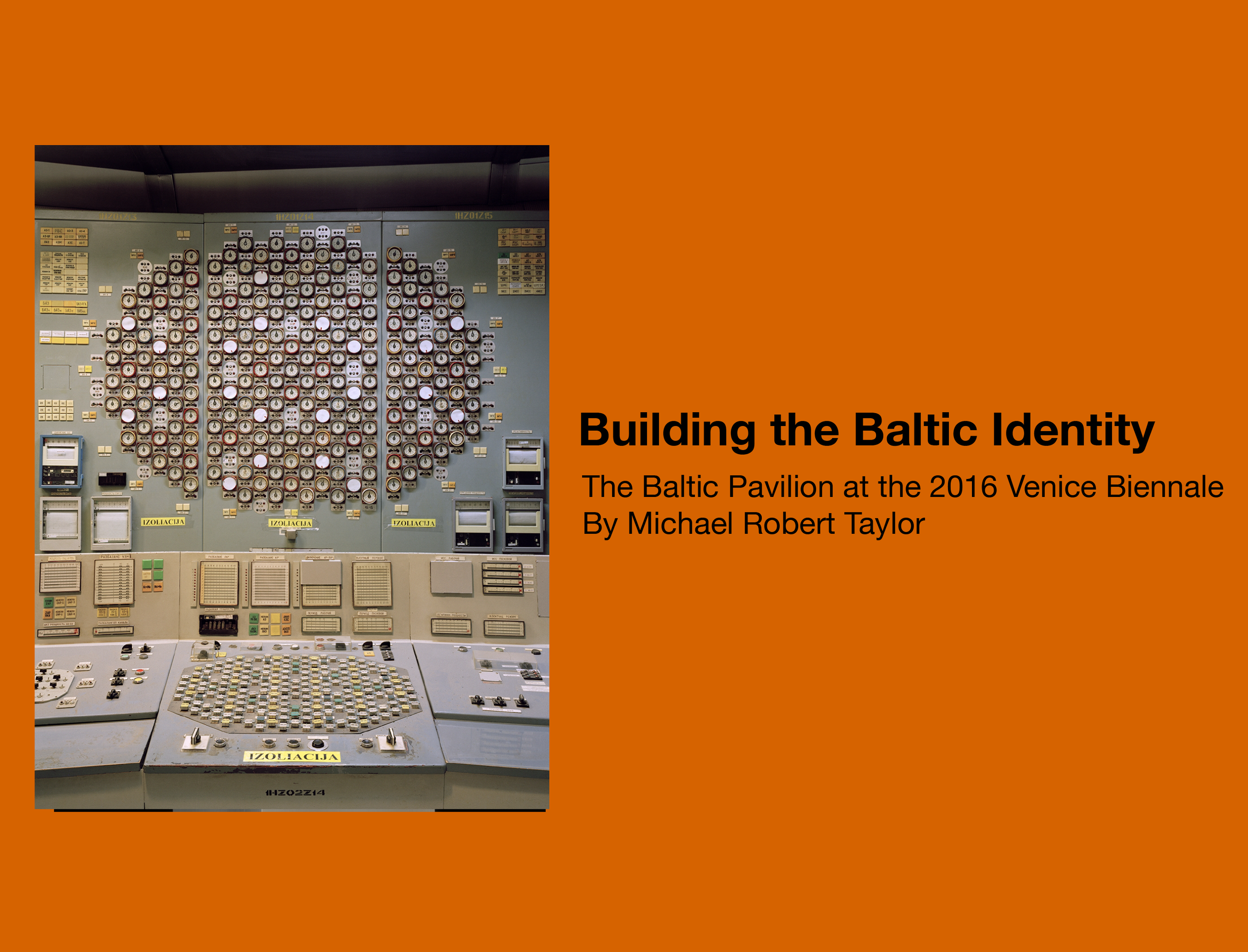 Building the Baltic Identity