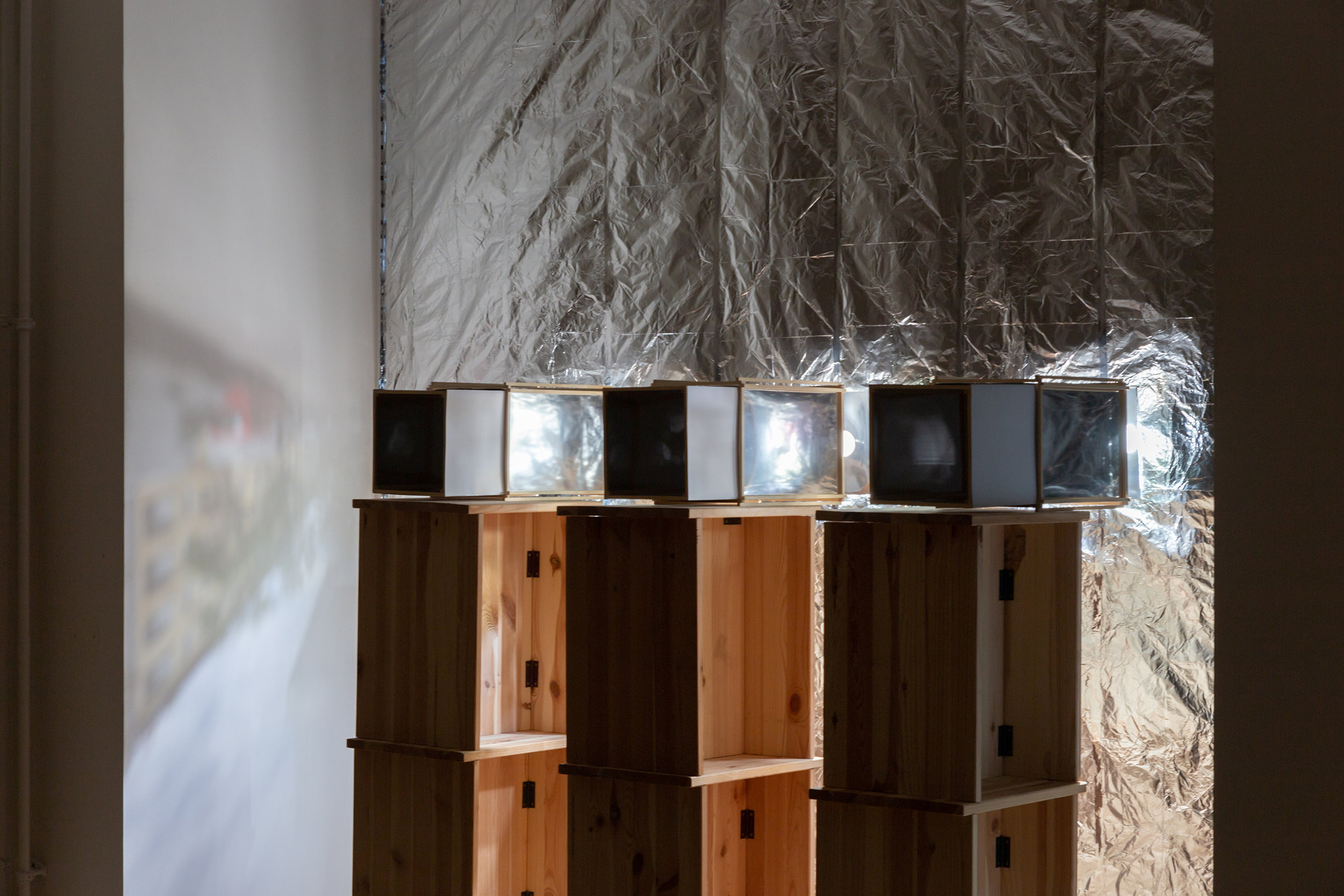 Interior of camera obscura box 1, 2018. Photograph by Benjamin Busch
