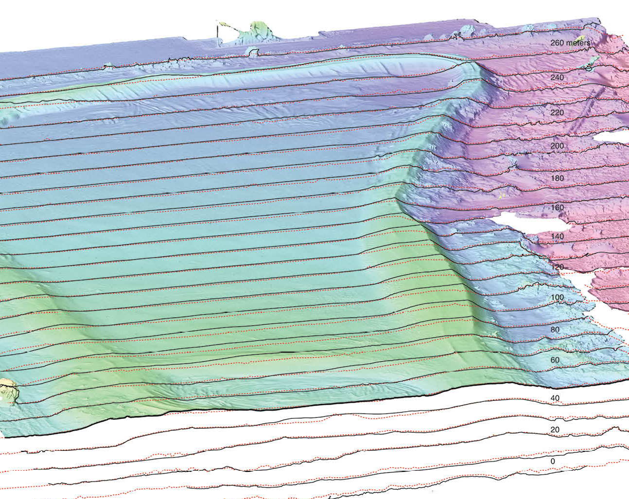 3D Terrain of Antioch Dunes National Wildlife Refuge. Image by Brett Milligan