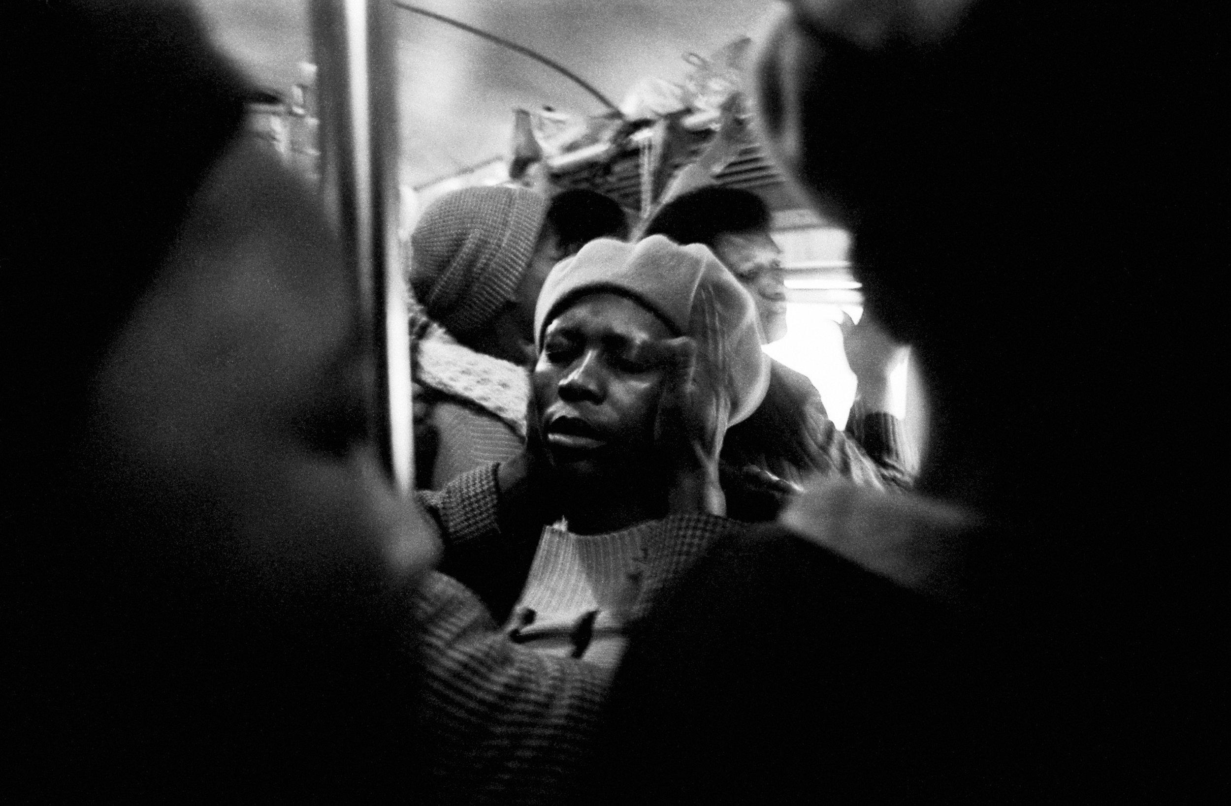 Laying of Hands, Johannesburg-Soweto Line , 1986. Photograph by Santu Mofokeng, ©Santu Mofokeng Foundation. Images courtesy Lunetta Bartz, MAKER, Johannesburg.