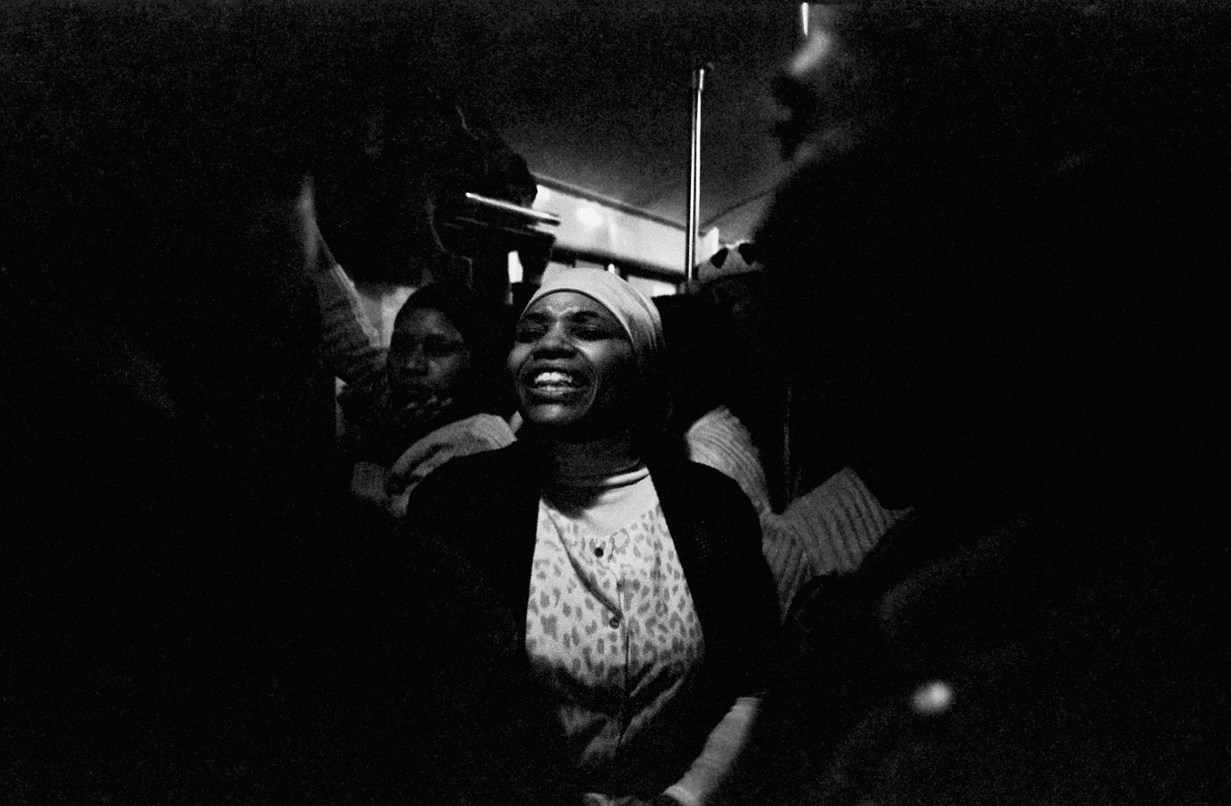 Exhortations, Johannesburg–Soweto Line , 1986. Photograph by Santu Mofokeng, ©Santu Mofokeng Foundation. Images courtesy Lunetta Bartz, MAKER, Johannesburg.