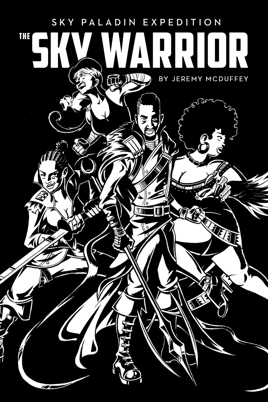The Sky Warrior alternate cover illustration
