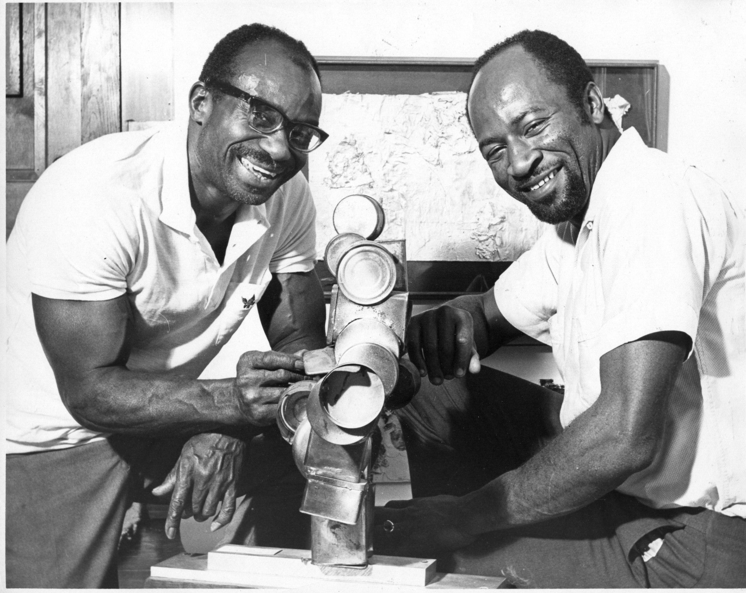 Noah with Judson Powell at the Watts Towers Art Center, 1966