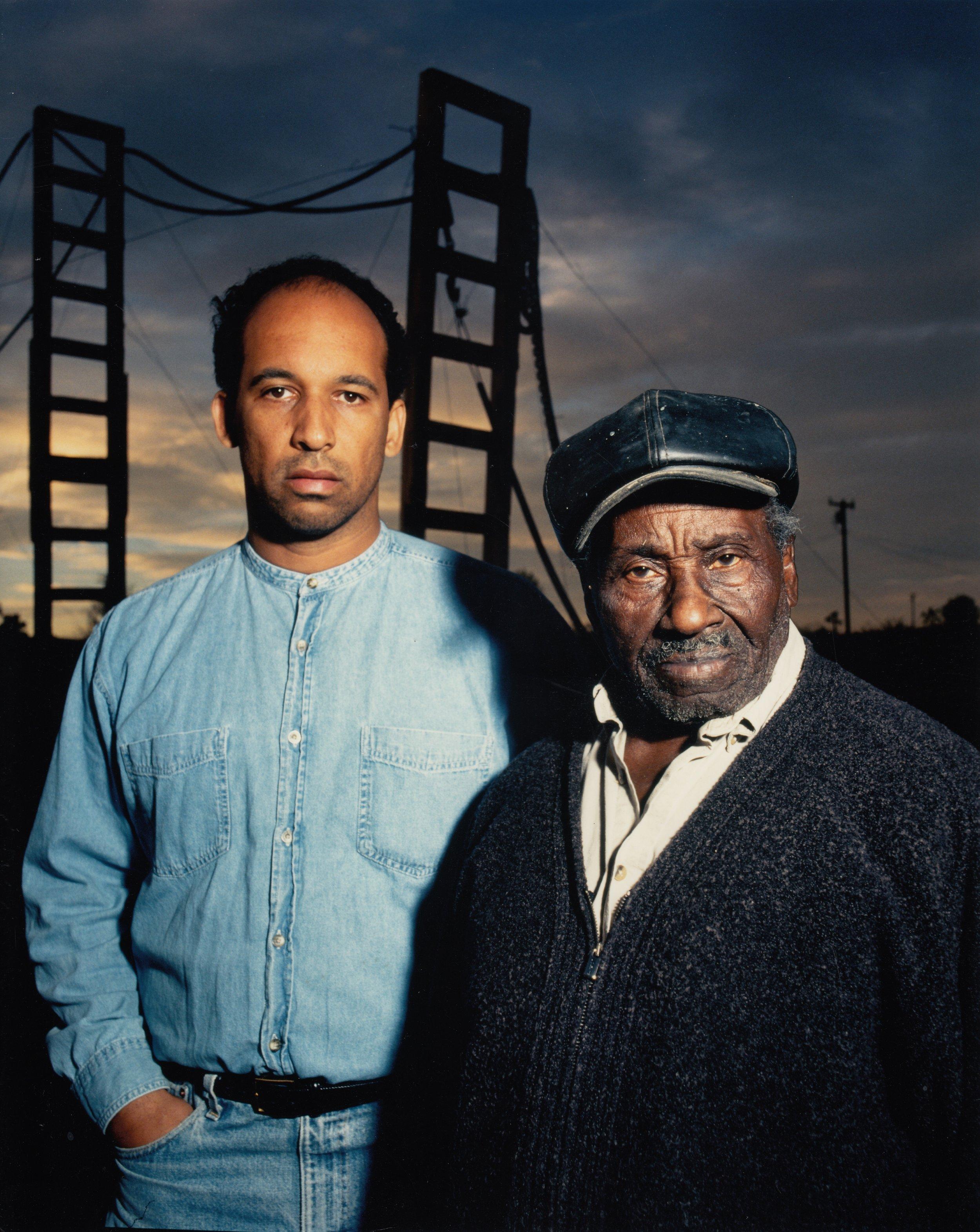 Joe Lewis with Noah at the Outdoor Art Museum ©Jim McHugh