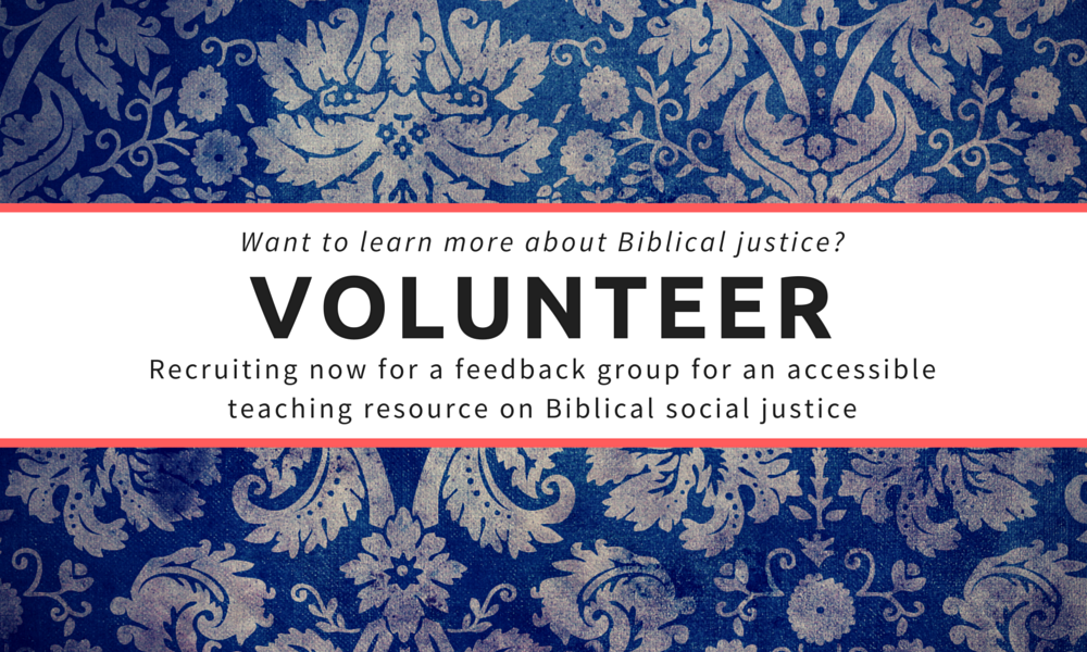 Volunteer biblical justice
