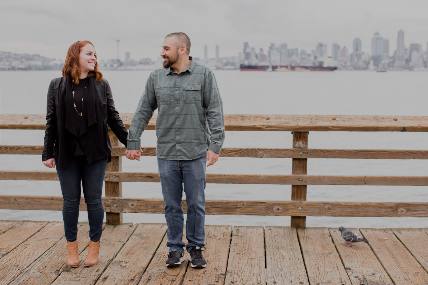 Alki Beach Seattle Waterfront Engagement