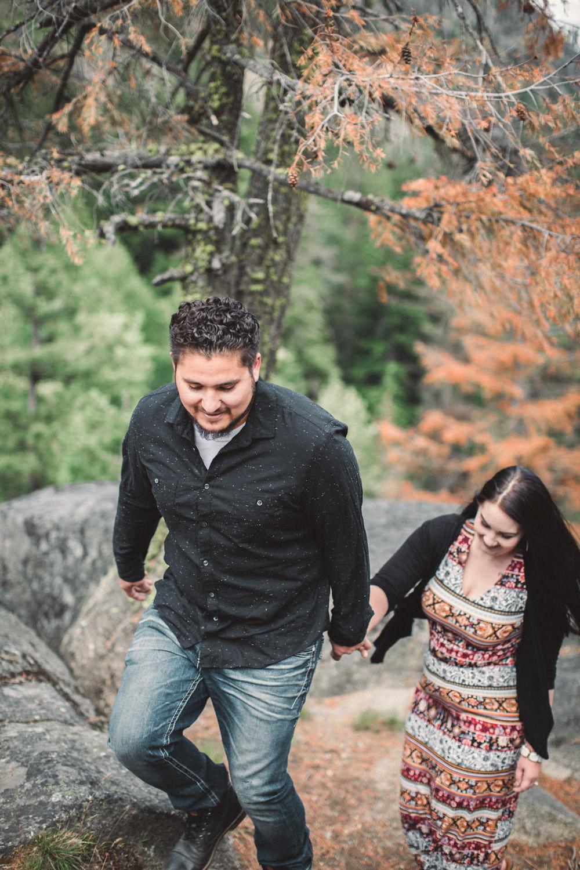 Leavenworth Mountaintop Engagement Photos