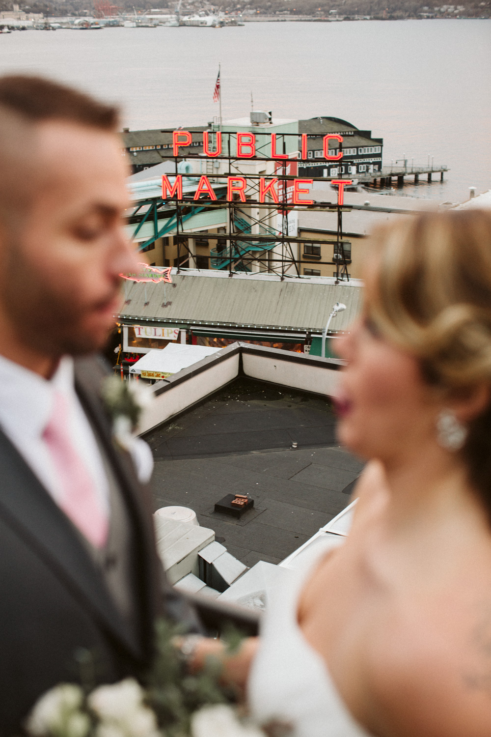 First Look Inn at the Market Pike Place Seattle Wedding by Reese Ferguson
