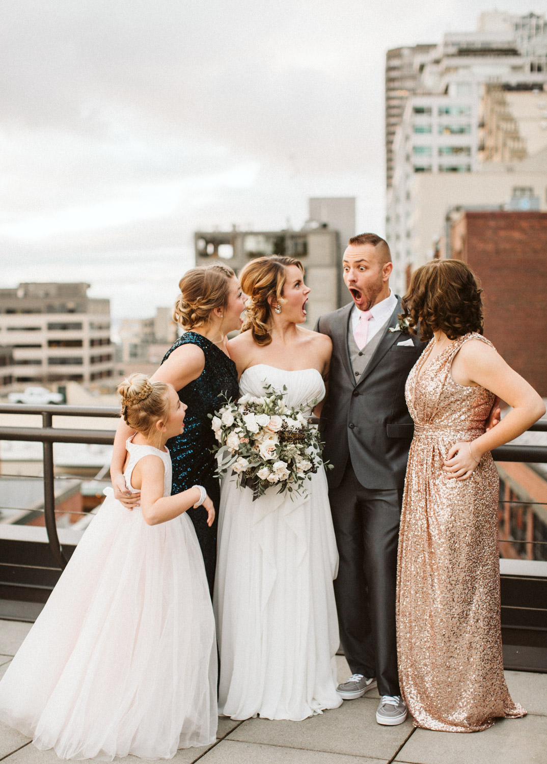 Family Photos Inn at the Market Pike Place Seattle Wedding by Reese Ferguson