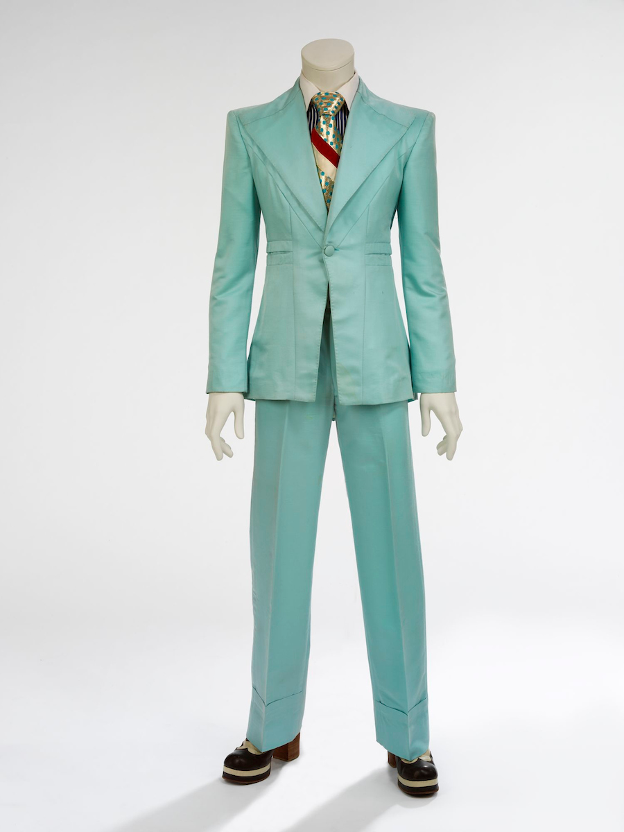 Ice-blue suit, 1972. Designed by Freddie Burretti for the 'Life on Mars' video.jpg