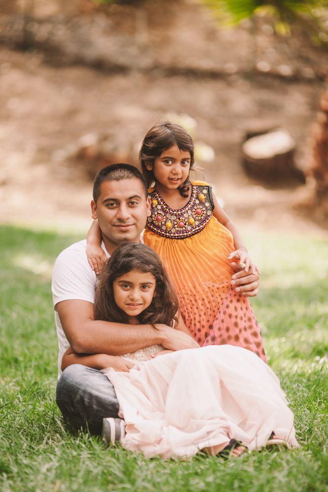 san   diego wedding photographer | man sitting posing with 2 children