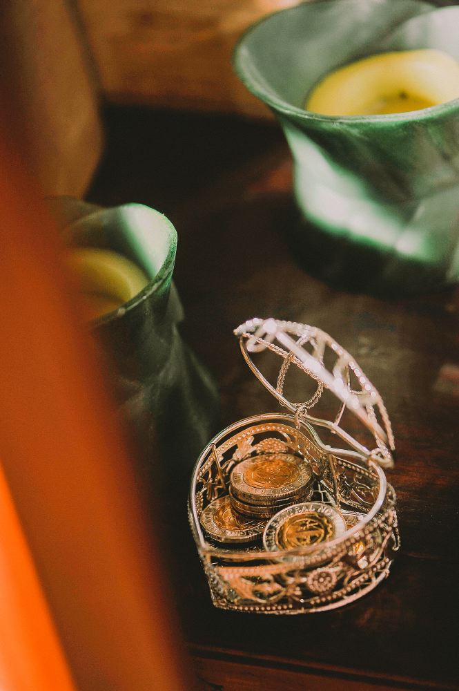 san   diego wedding photographer | coins in a heart shaped container