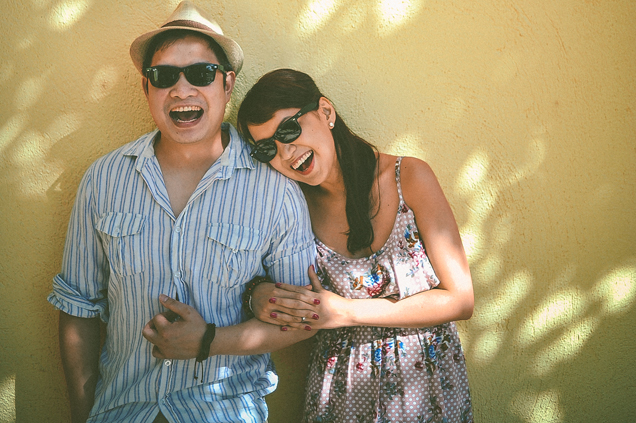 san   diego wedding photographer   man and woman in summer outfits and shades