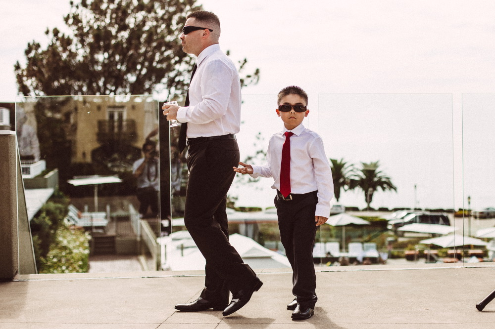 san   diego wedding photographer | child in red tie and shades
