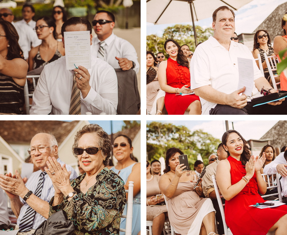san   diego wedding photographer | collage of crowd with man on forefront covering   face with paper