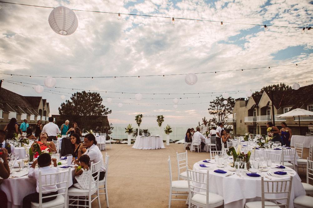 san   diego wedding photographer | outdoor dining set up overlooking ocean