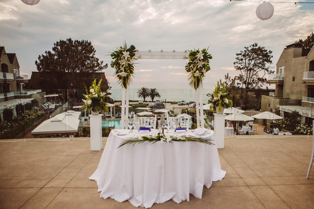 san   diego wedding photographer | table set up for newly wed couple