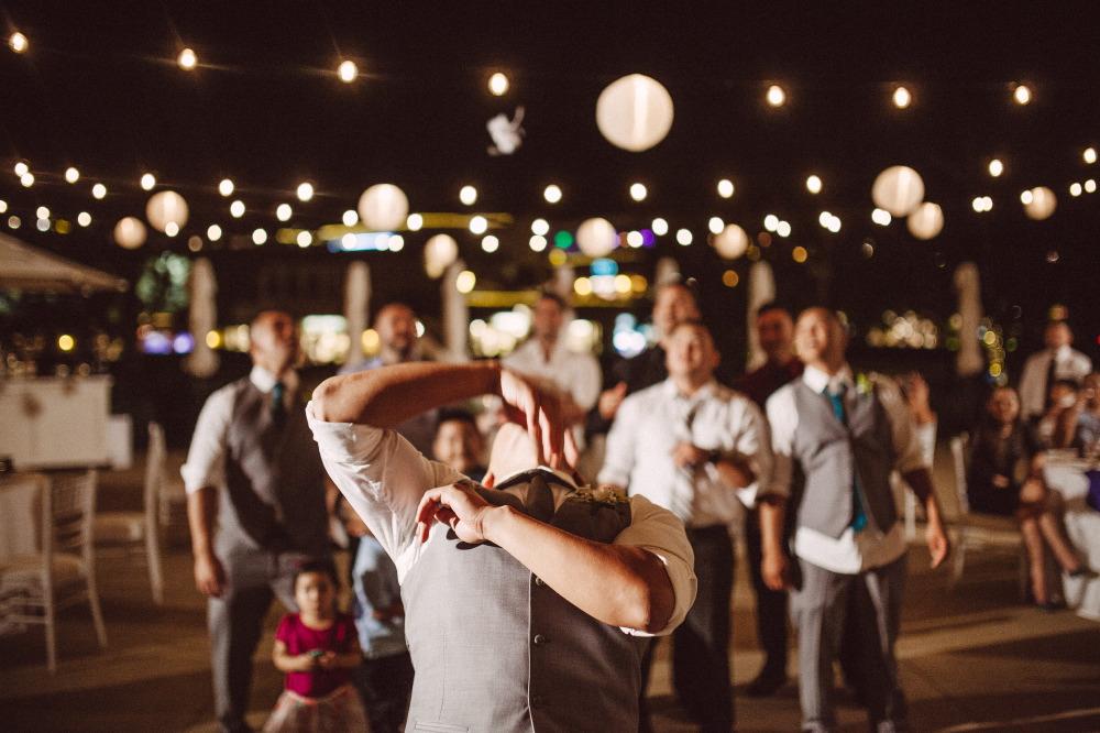 san   diego wedding photographer | groom dancing on dance floor