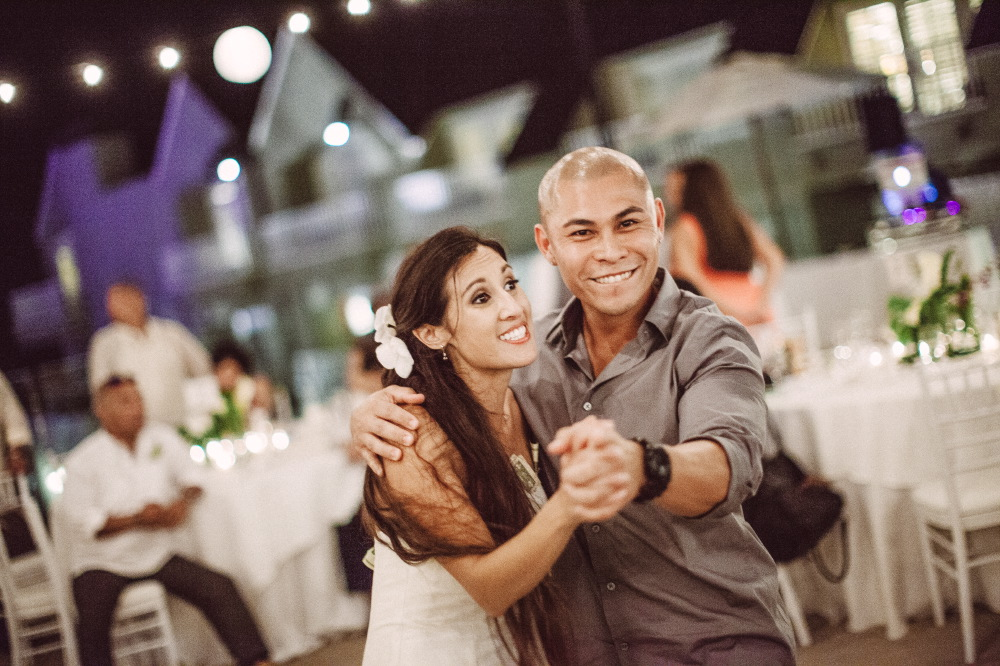 san   diego wedding photographer | bride dancing with bald man with watch