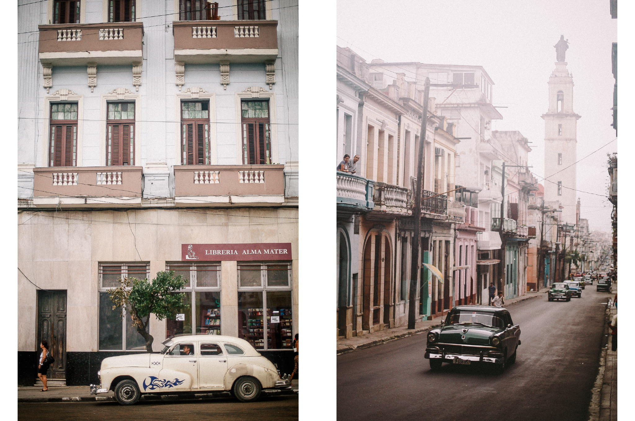 san diego wedding   photographer | collage of white car parked on curb and dark green car   driving