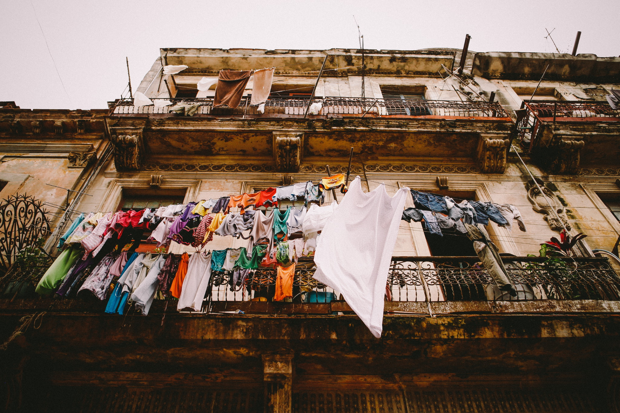 san diego wedding   photographer | old building's exterior with clothes hanging outside